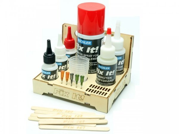 Fix It! GLUE CADDY Klebstoff Sortiment (43-tlg.)
