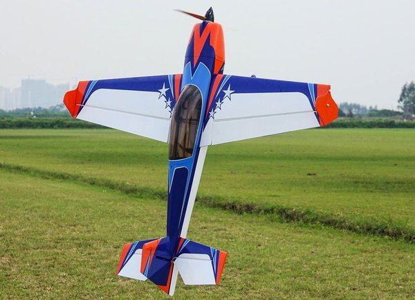 "Extreme Flight EXTRA 300 60"" V2, BLUE/ORANGE/WHITE ARF KIT"